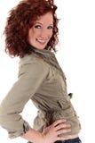 Mulher nova red-haired atrativa imagem de stock