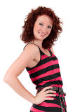 Mulher nova red-haired atrativa fotos de stock royalty free