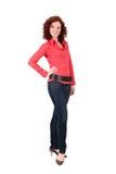 Mulher nova red-haired atrativa imagens de stock
