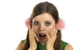 Mulher nova Scared fotos de stock