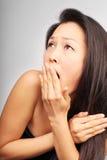Mulher nova Scared imagens de stock royalty free