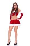 Mulher nova 'sexy' de Santa Imagem de Stock