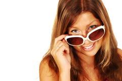 Mulher nova 'sexy' de sorriso Imagens de Stock