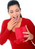 A mulher nova surpreendeu fotos de stock