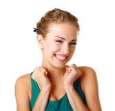 Mulher nova surpreendida Foto de Stock Royalty Free