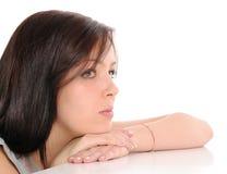Mulher nova triste Fotos de Stock Royalty Free