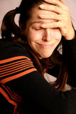 Mulher nova triste Foto de Stock Royalty Free