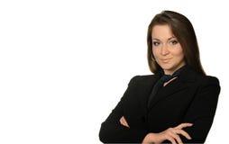 A mulher o chefe fotografia de stock