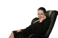 A mulher o chefe Imagens de Stock