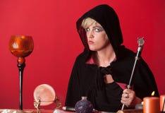 Mulher Occult fotografia de stock royalty free