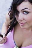 Mulher olhando fixamente Foto de Stock Royalty Free