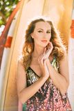 Mulher Olhar provocante fotos de stock royalty free