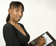 Mulher ou estudante de negócio do americano africano Foto de Stock Royalty Free