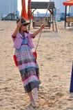 Mulher ou menina chinesa asiática nova feliz bonita Fotos de Stock
