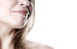 Mulher parcial face-13 fotografia de stock royalty free