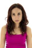 Mulher parecendo jovem inocente Imagem de Stock Royalty Free