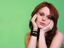 Mulher pensativa fotografia de stock