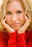Mulher pensativa Fotos de Stock