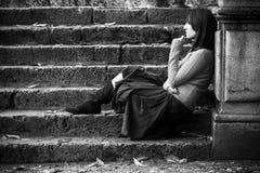 Mulher pensativa Fotografia de Stock Royalty Free