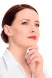 Mulher pensativa bonita Imagens de Stock