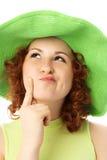 Mulher pensativa nova Fotos de Stock Royalty Free