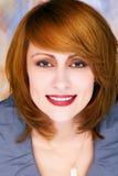 Mulher perfeita no fundo colorido Imagens de Stock