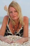 Mulher perto do mar Imagem de Stock Royalty Free