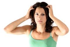 Mulher perturbada Imagem de Stock
