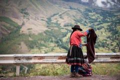 Mulher peruana foto de stock royalty free