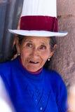 Mulher peruana nativa imagem de stock