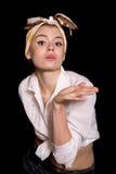 Mulher Pin-acima Imagem de Stock Royalty Free