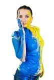 Mulher pintada bonita nova Imagem de Stock