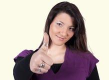 Mulher positiva Fotos de Stock Royalty Free