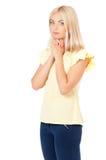 A mulher praying Fotografia de Stock