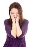 Mulher preocupada Imagem de Stock Royalty Free