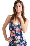 Mulher querendo saber Fotos de Stock Royalty Free