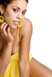 Mulher preta bonita Fotografia de Stock Royalty Free