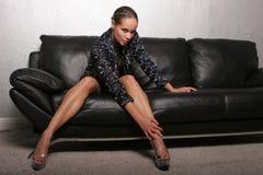 Mulher preta lindo Fotos de Stock