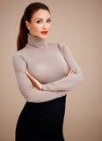 Mulher profissional glamoroso Fotografia de Stock