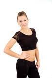 Mulher profissional nova da ginasta Fotografia de Stock