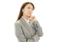 Mulher que é cansado Foto de Stock