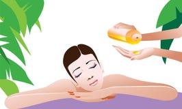 Mulher que começ a massagem Foto de Stock Royalty Free
