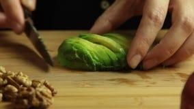 Mulher que cozinha o grupo da receita do papa de aveia do vegetariano vídeos de arquivo
