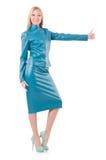 Mulher que dá os polegares isolados acima Imagens de Stock