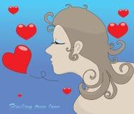 Mulher que encontra o amor verdadeiro Fotografia de Stock Royalty Free