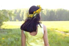 Mulher que está no vestido Fotografia de Stock