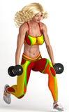 Mulher que exercita com Dumbbells Imagens de Stock Royalty Free