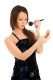 A mulher que faz a compo isolado Imagens de Stock