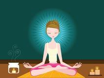 Mulher que faz a ioga Foto de Stock Royalty Free