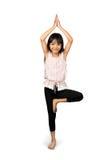 Mulher que faz a ioga fotografia de stock royalty free